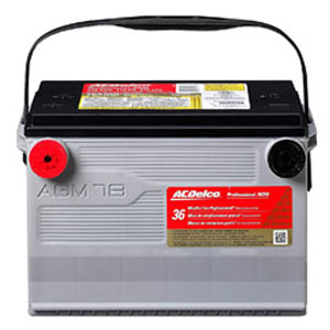 8. ACDelco 78AGM Professional AGM Automotive BCI Group 78 Battery